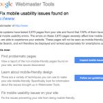 Google's Mobile Usability Warnings