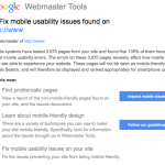 Google's Mobile Usability Warnings